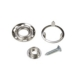 Chrome carpet fasteners (per set of 4x4)